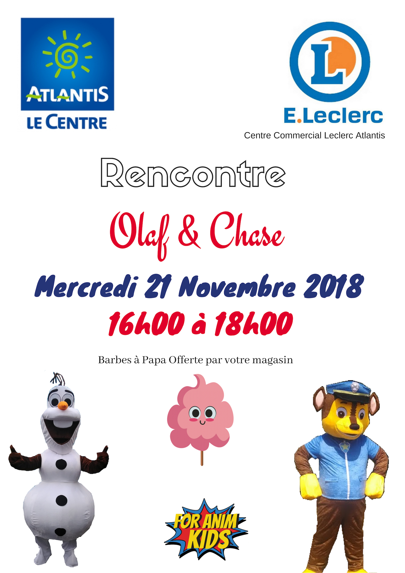 evenement atlantis leclerc olaf